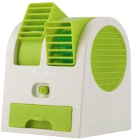 View DIZIONARIO Mini Perfume Chilling AC Dual Rotating Face Fan AC-GR USB Fan(Green) Laptop Accessories Price Online(DIZIONARIO)