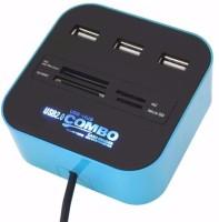 JT 2 In 1 Hub Card Reader(Blue)
