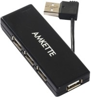 View Amkette High-speed 4 Port FUH341PP USB Hub(Black) Laptop Accessories Price Online(Amkette)