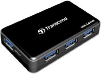 View Transcend Super Fast Speed USB 3.0 4 Port USB 3 Hub with power Adaptor HUB3 USB Hub(Black) Laptop Accessories Price Online(Transcend)