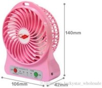 View Cyxus Like Star With 2200 mAh Rechargeable Battery Mini Portable Rechargeable Mini Fan And Light With Rechargeable 2600 MAh Cell USB Fan(Multicolor) Laptop Accessories Price Online(Cyxus)