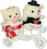 CTW Teddy Cycle Romantic Cute CoupleValentine Gift Set For Valentine's Day Showpiece Gift Set