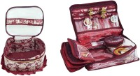 Bahurani Boutique Combo of Fril Makeup Vanity Box(Maroon) - Price 499 77 % Off