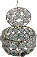 Decor8 Round Box Small Jewellery Vanity Box(Silver)