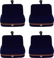 Aadhya Aadhya multipurpose ring folder Pack of 4 Keeps jewelleries safe Vanity Box(Blue)