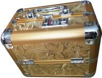 Platinum Golden Flower Print Makeup, Jewellery Vanity Box(Golden)