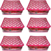 Atorakushon 6pc Saree Salwar Suit Dress Protection Cover Garment Pouch Organiser Box Bag Storage Case Vanity Box(Pink)
