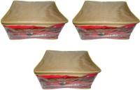 Atorakushon 3pc Saree Salwar Suit Dress Protection Cover Garment Pouch Organiser Box Bag Storage Case Vanity Box(Golden)
