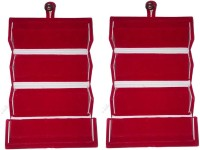Abhinidi Pack of 2 Ear Ring Folder Ring case Travelling Pouch Box Vanity Box(Red)