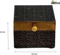 Artlivo Bling Jewellery Box Makeup and Jewellery Vanity Box(Golden)