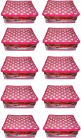 Atorakushon 10pc Saree Salwar Suit Dress Protection Cover Garment Pouch Organiser Box Bag Storage Case Vanity Box(Pink)