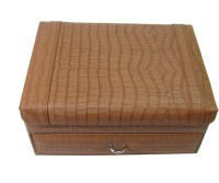 Essart Watch Box(Tan, Holds 10 Watches)