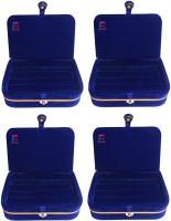 Atorakushon Blue Ring Organizer StorageBox Vanity Box(Blue)