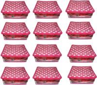 Atorakushon 12pc Saree Salwar Suit Dress Protection Cover Garment Pouch Organiser Box Bag Storage Case Vanity Box(Pink)