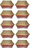Atorakushon 10pc Saree Salwar Suit Dress Protection Cover Garment Pouch Organiser Box Bag Storage Case Vanity Box(Golden)