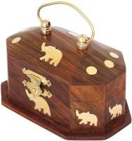 Onlineshoppee CA274 Jewellery Box Vanity Box(Brown)