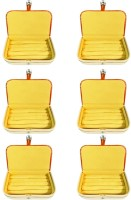 Atorakushon Pack of 6 Brown Ring Organizer Storage Box Vanity Vanity Box(Brown)