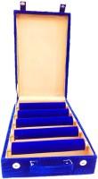 Atorakushon 5 roll rod bangles Jewellery box Storage Case Vanity Box(Blue)