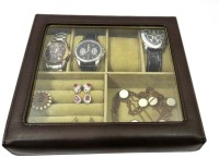 Essart Watch Box(Dark Brown, Holds 4 Watches)