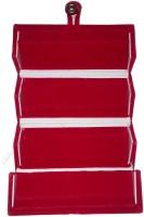 Abhinidi Ear Ring Folder Ring case Travelling Pouch Box Vanity Box(Red)