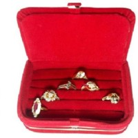 Abhinidi Ring box earring case Travelling Pouch Box Vanity Box(Red)