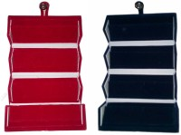 Abhinidi Pack of 2 Ear Ring Folder Ring case Travelling Pouch Box Vanity Box(Red,Blue)