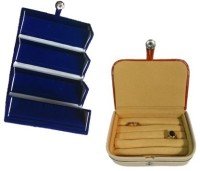 Abhinidi Pack of 2 Ear Ring Folder Ring case Travelling Pouch Box Vanity Box(Blue,Brown) - Price 142 71 % Off
