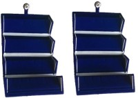 Abhinidi Pack of 2 Ear Ring Folder Ring case Travelling Pouch Box Vanity Box(Blue) - Price 142 76 % Off
