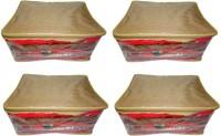 Atorakushon 4pc Saree Salwar Suit Dress Protection Cover Garment Pouch Organiser Box Bag Storage Case Vanity Box(Golden)