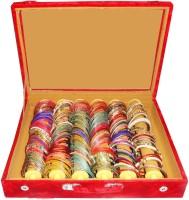 Atorakushon 6 Roll Rod Bangles Jewelry Storage Vanity Box(Maroon)