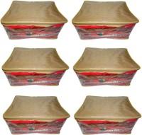 Atorakushon 6pc Saree Salwar Suit Dress Protection Cover Garment Pouch Organiser Box Bag Storage Case Vanity Box(Golden)