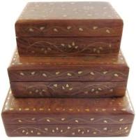 Onlineshoppee AFR1412 Jewellery Vanity Box(Brown)