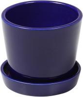 DECARDO Ceramic Vase(4.5 inch, Blue)