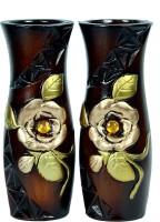 Orchard Ceramic Vase(8 inch, Brown)