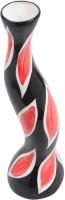 Store Indya Ceramic Vase(15 inch, Red)