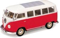 Maisto Power Kruzerz 4.5 inch Pull Back Action - Volkswagen Van Samba Diecast Model Car(Red&White)