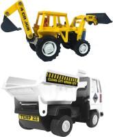 Xunda JCB&Dumper Truck(Yellow, White)