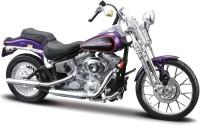 Maisto Harley-Davidson 2001 FXSTS Springer Softail(Purple, Pack of: 1)