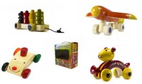 CeeJay Set of 4 Colorful Wooden Baby Toys:Model OW-OW010(Multicolor)