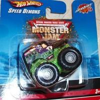 Hot Wheels Monster Jam Grave Digger Speed Demons Collectible Truck(Green)