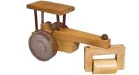 Desert Craft In Wooden Road Roller(Beige)