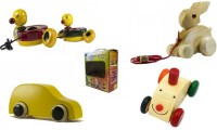 CeeJay Set of 4 Colorful Wooden Baby Toys:Model OW-OW015(Multicolor)
