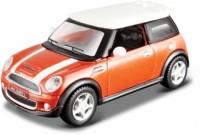 Maisto Power Kruzerz 4.5 Inch Pull Back Action - Mini Cooper S Diecast Model Car(Orange)
