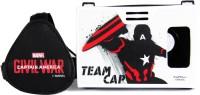 AuraVR Official Marvel Civil War (Captain America), Team Cap Virtual Reality Viewer (VR Headset) Video Glasses(Black / White)