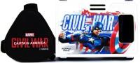 AuraVR Official Marvel Civil War (Captain America/ iron man) Virtual Reality Viewer (VR Headset) Video Glasses(Black/White)