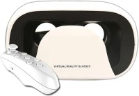 VR 13 Virtual Reality Headset with White Remote Video Glasses(White)