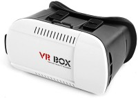 VR Google Cardboard Inspired Virtual Reality 3D VR Box (Plastic) For Smartphones Upto 6 Inches. (Without Remote) Video Glasses(White)