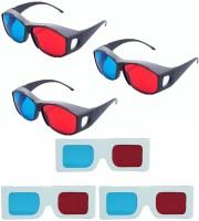 Hrinkar Updated Version 3 Plastic + 3 Paper Video Glasses(Black, white)