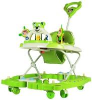 Panda Creation Musical Walker & Rocker With Parent Rod(Green)