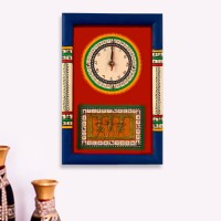 ExclusiveLane Analog Wall Clock(Blue, Red, With Glass)